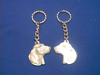 basset hound keychain