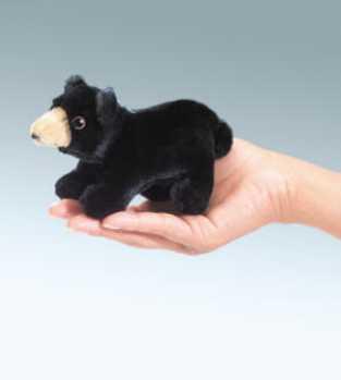 black bear finger puppet folkmanis