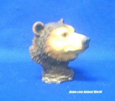 bear head figurine small
