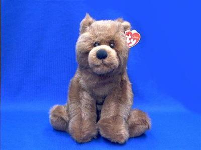 brown bear stuffed plush ty woodson