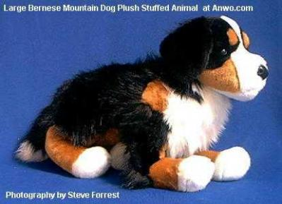 bernese mountain dog plush stuffed toy large animal