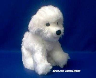 bichon frise plush stuffed animal puff ball