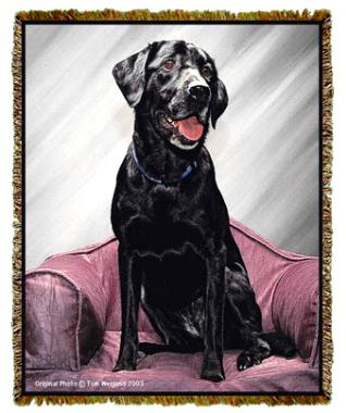 black lab throw blanket tapestry coverlet