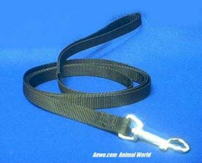 black leash dog lead 6 foot long x 5/8 wide