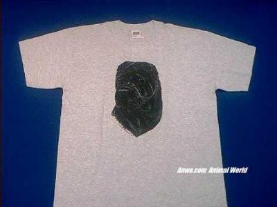 black shar pei t shirt ash