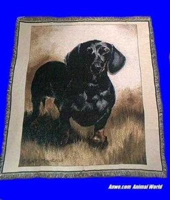 black tan dachshund blanket throw tapestry