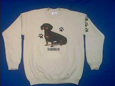 black tan dachshund sweatshirt