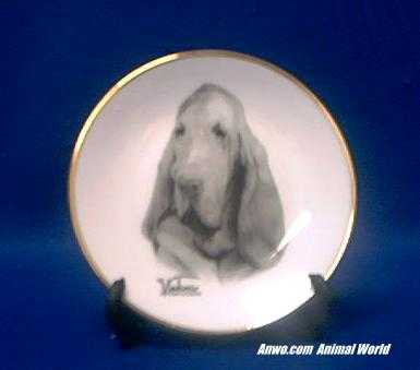 bloodhound plate porcelain