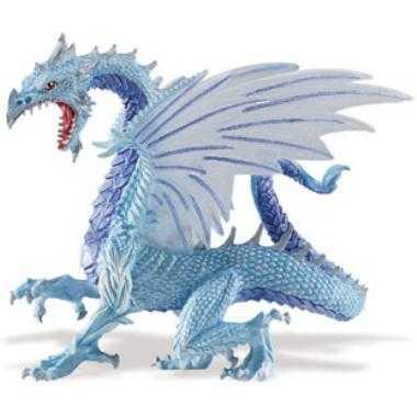 blue ice dragon toy miniature