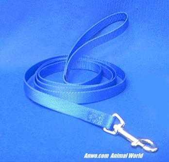 blue leash dog lead 6 foot x 5/8 wide