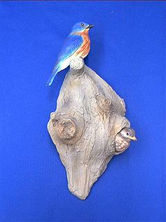 bluebird figurine wallhanging