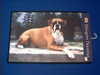 boxer doormat welcome mat