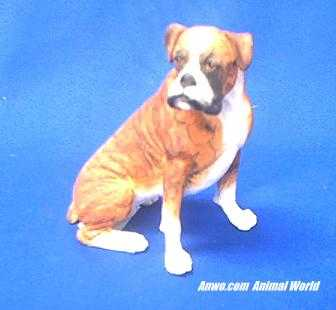 boxer dog figurine country artists