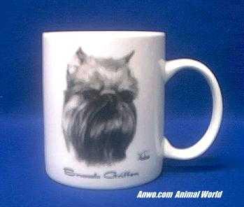 brussels griffon mug porcelain