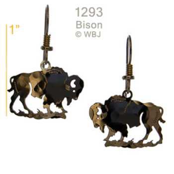 buffalo earrings gold jewelry