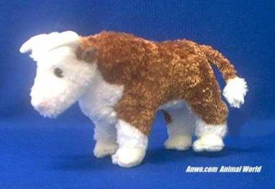 brown bull plush stuffed animal tumbleweed