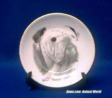 bulldog plate porcelain