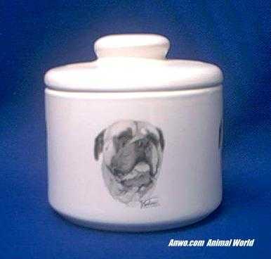 bullmastiff jar porcelain