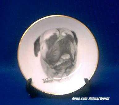 bullmastiff plate porcelain