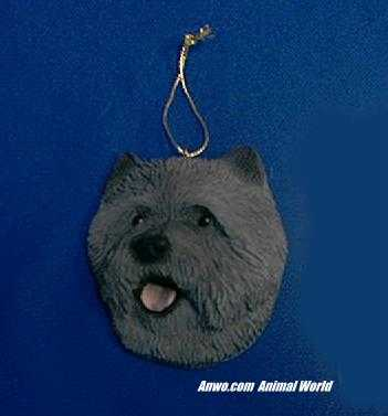 cairn terrier christmas ornament face