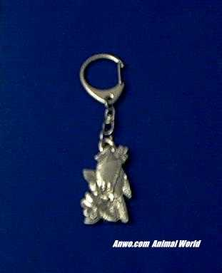 cardinal keychain pewter