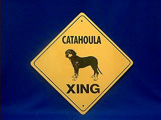 catahoula dog crossing sign