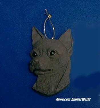 chihuahua christmas ornament face