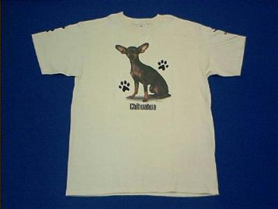 chihuahua black & tan t shirt