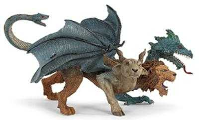 Fire Dragon Toy Miniature Three Headed At Animal World