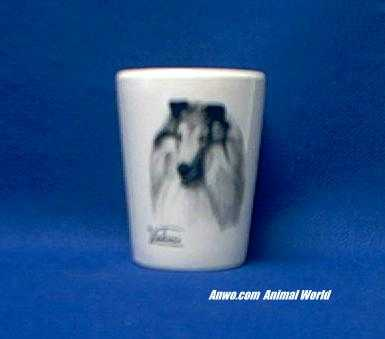 collie shot glass