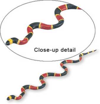coral snake toy replica