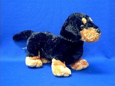 black tan dachshund plush stuffed animal sausage
