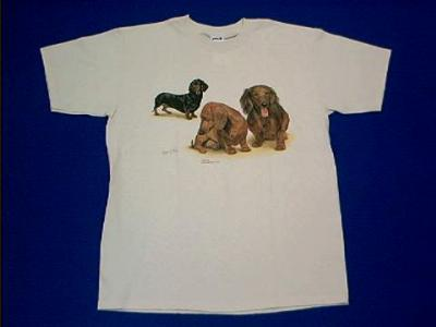 dachshund collage t shirt