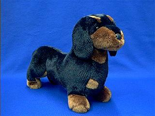 dachshund stuffed animal plush black tan
