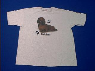red dachshund t shirt