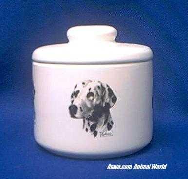 dalmatian jar porcelain