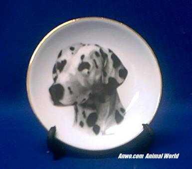 dalmatian plate porcelain