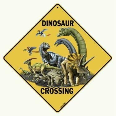 dinosaur crossing sign anwo animal world