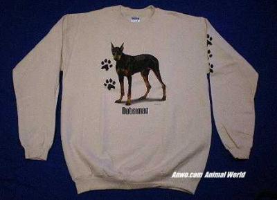 doberman pinscher sweatshirt usa