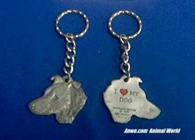 dog keychain pewter usa