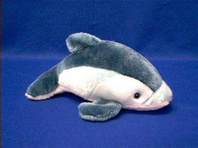 pacific white sided dolphin plush stuffed animal small