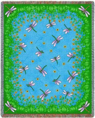 dragonfly blanket throw tapestry aghan