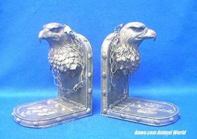 eagle bookends bronze