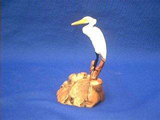 egret figurine