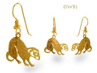 ferret earrings