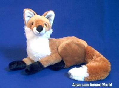 fox plush stuffed animal  toy fiesta