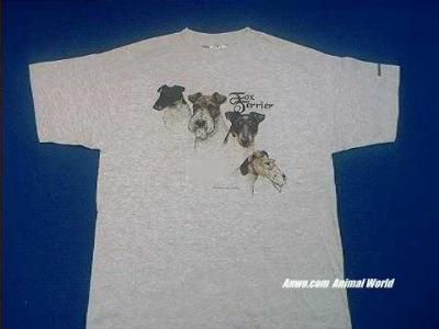 fox terrier t shirt ash