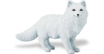 arctic fox toy miniature replica