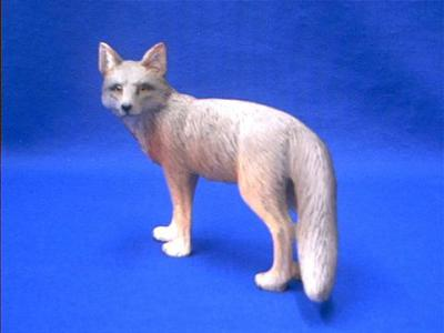 gray fox figurine