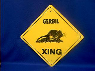 gerbil crossing sign